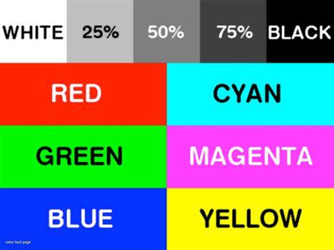colors test printer test page color nocrc org