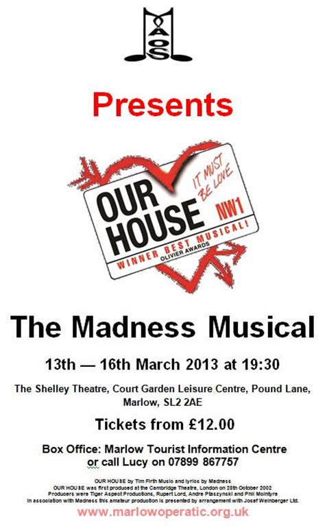 our house the musical soundtrack our house the musical soundtrack 28 images our house uk tour stage set our house