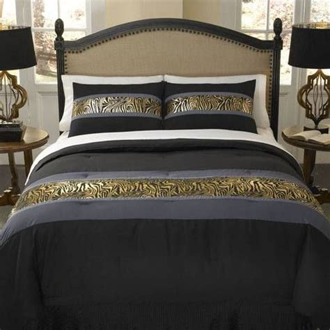 metallic gold bedding a contemporary zebra bedding ensemble in metallic gold slate grey and jet black the