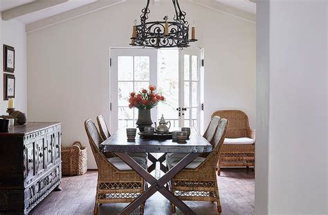 essential home kendall dining table tour designer kendall conrad s santa barbara home