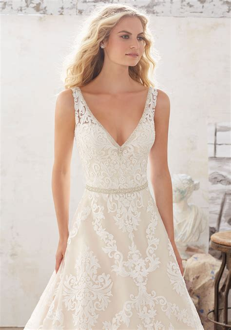 a dress for a wedding morgan wedding dress style 8124 morilee