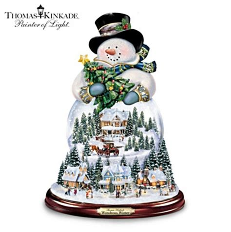 musical snowman snow globe kinkade musical snowman snow globe with lights