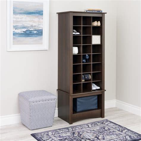 shoe storage cubbie prepac cubbie cabinet espresso shoe rack ebay