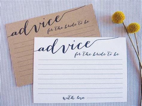 printable bridal shower advice cards bridal shower advice cards printable advice for the