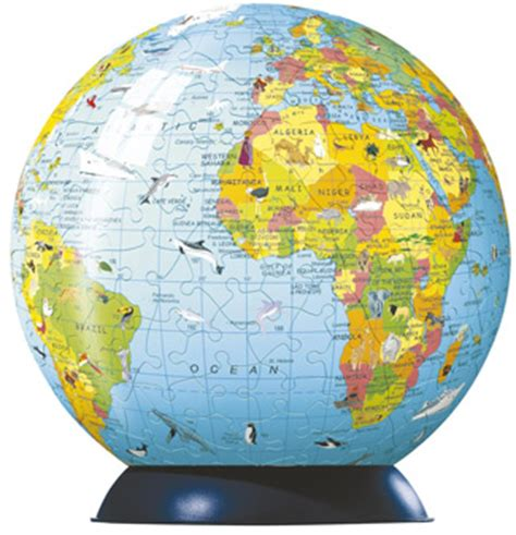 pc globe maps and facts children s world map puzzle globe