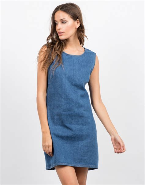 Sleeveless Dress Denim sleeveless denim dress day dress jean dress blue
