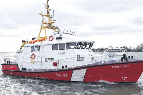 Canadian Coast Guard Search And Rescue Coast Guard Crew Eagerly Await Lifeboat Delivery In Sambro
