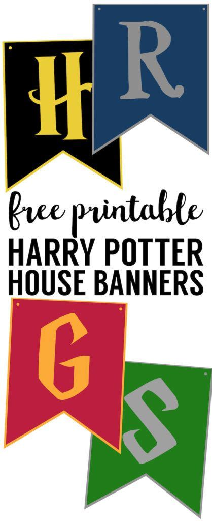 printable hogwarts house banners the 25 best hogwarts crest ideas on pinterest