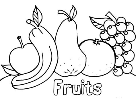Fruit Coloring Pages For Preschoolers free printable fruit coloring pages for