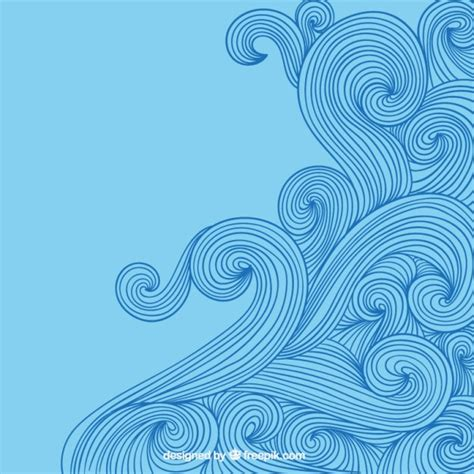 wave pattern line drawing hand drawn waves in doodle style vector free download