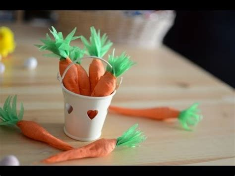 How To Make Easter Decorations Out Of Paper - diy how to make paper carrots filled with easter