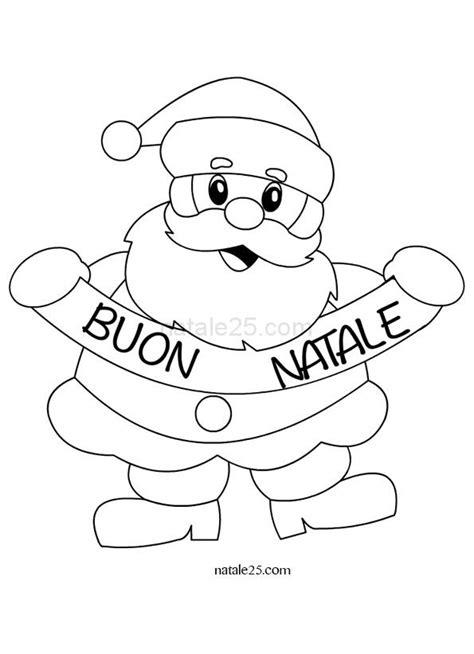 babbo natale esiste testo disegni di babbo natale per bambini da colorare
