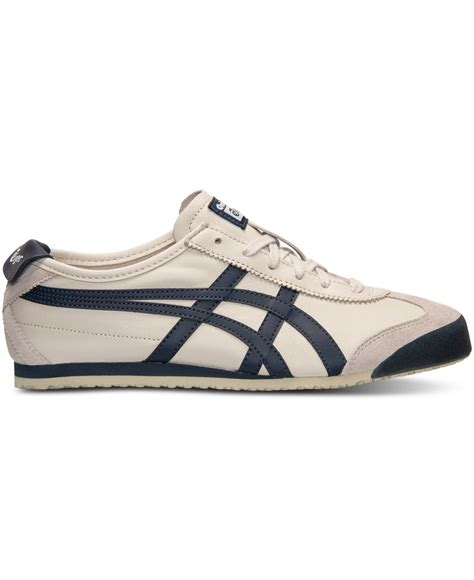 Asics Onitsuka Tiger Mexico Sepatu Sneakers Pria asics s onitsuka tiger mexico 66 casual sneakers from finish line in for lyst