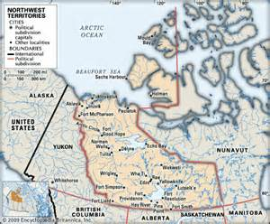 map of northwest cities northwest territories cities encyclopedia