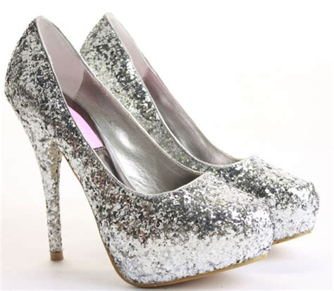 shoes prom silver sparkle wheretoget