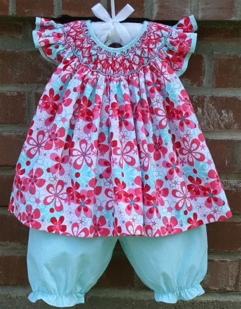 pattern matching bishop cute cute angel sleeve bishop set from sweet tea smocking
