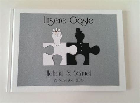 Gästebuch Hochzeit Gestalten Ideen 3208 by Hochzeit G 228 Stebuch Deko Unikat Puzzle Namen Ringe
