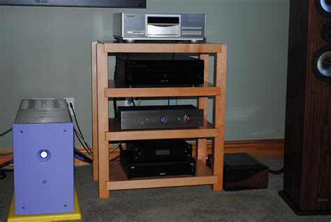 Shelf For Stereo by Maple Stereo Rack With Light Cherry Finish