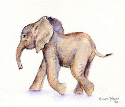 watercolor elephant tutorial baby elephant watercolor original