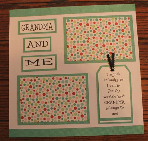 scrapbook layout idea books 1 premade handmade 12 x 12 grandma and me scrapbook page
