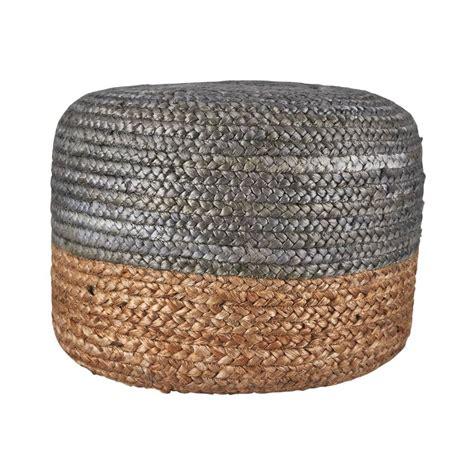housedoctor pouf canapa juta argento naturale di colore