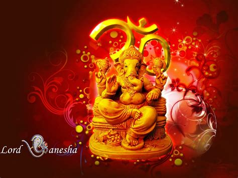lord ganesha hindu hd wallpaper red  yellow color  wallpaperscom