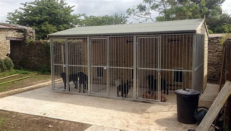 Galvanised Kennel Sections by Bespoke Kennels Houses Rearing Sheds And Kennels