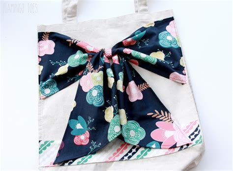 tote bag pattern with bow diy bow tote