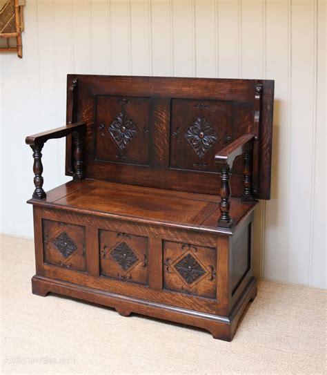 monks benches oak monks bench antiques atlas