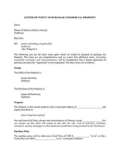Letter Of Intent To Lease Commercial Property Template Exles Letter Template Collection Letter Of Intent To Lease Template Free