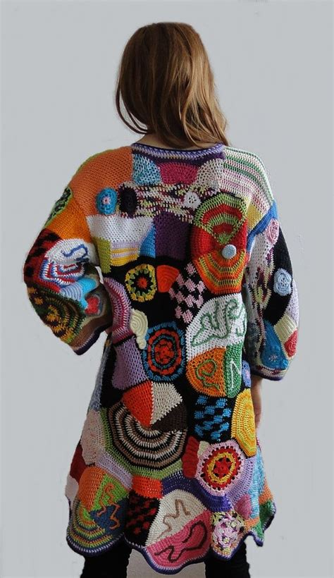 Hippie Patchwork Dress - 25 vest jacket ideas on diy crochet vest