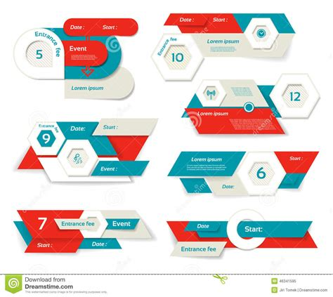 website layout vector free modern infographics options banner vector illustration
