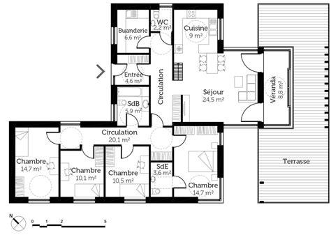 Maison Avec Terrasse Sur Le Toit by Plan Maison Plain Pied Avec Toit Terrasse Ooreka