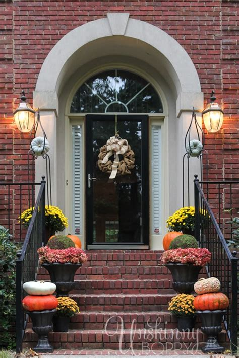 how to decorate your porch for fall fall porch decor with plants and pumpkins unskinny boppy