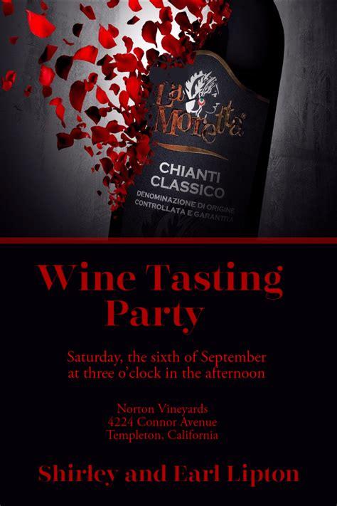 wine tasting party invitation party wine tasting