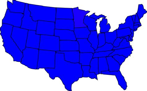 us map blue and states united states blue clip at clker vector clip