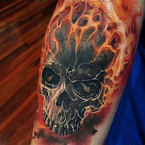 skull and flames tattoo designs 30 skull tattoos