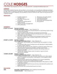 best assistant teacher resume example livecareer
