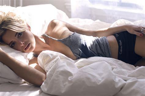 morning girl blonde bed lying sunny beautiful