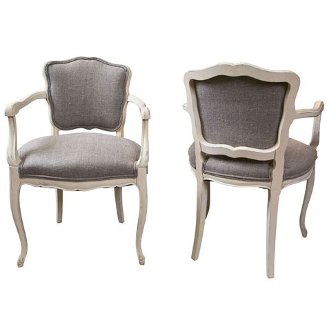 low back armchair set of 6 antique french low back arm chairs at 1stdibs