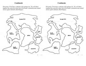 puzzle cut out template best photos of 7 continents map template 7 continents