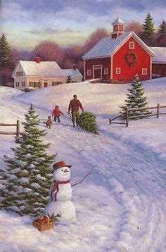 country christmas scenes images   christmas time vintage christmas merry