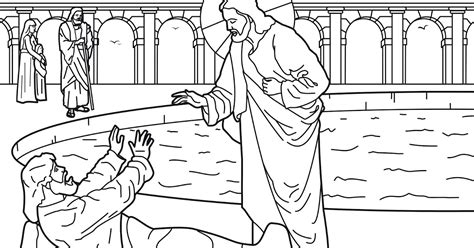 the healing of anime a coloring book for all ages books healing of the at the pool of bethesda coloring pages