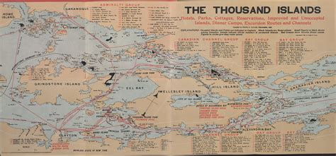 map thousand islands the thousand islands hotels parks cottages