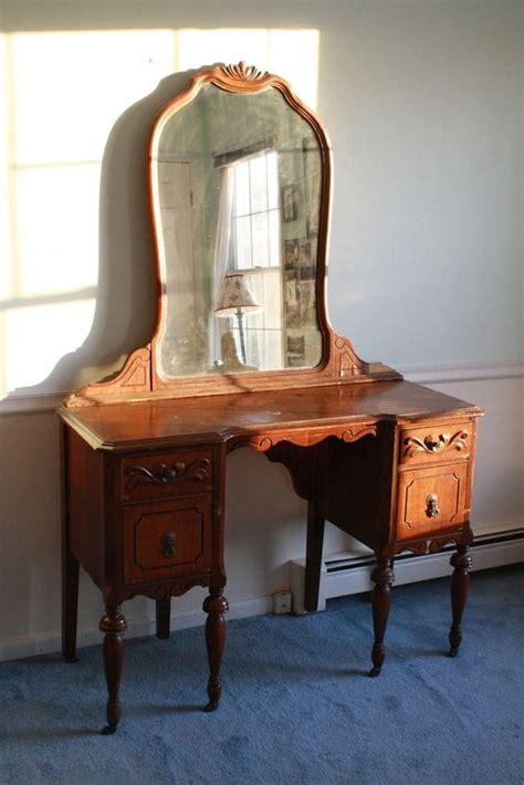 Mahogany Wood Vanities Bedroom by Antique 1940s Wooden Mahogany Mirrored Vanity By