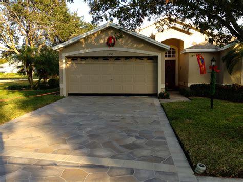 decorative concrete designs of florida painted driveways the villages florida concrete designs