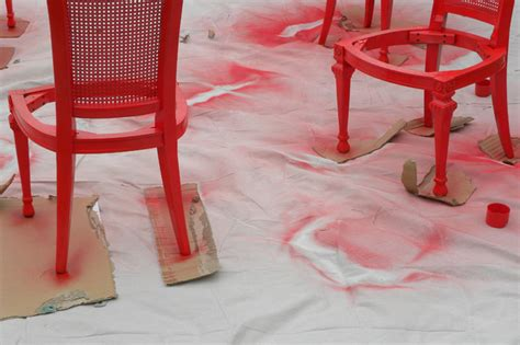 Spray Painting Dining Room Chairs by Diy Ideas Spray Paint And Reupholster Your Dining Room