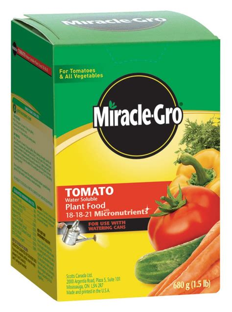 miracle gro miracle gro water soluble tomato plant food