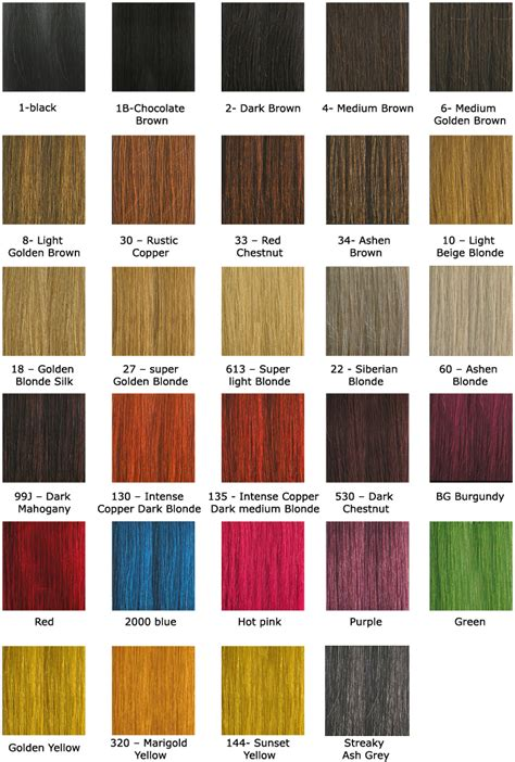 hair color remigirl hair color chart