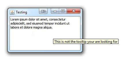 java swing tooltip java showing the tooltip of the parent component on